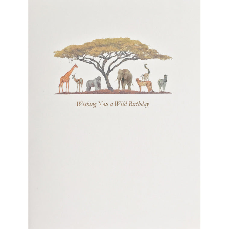 Greeting Card Wild Birthday - Lumia Designs