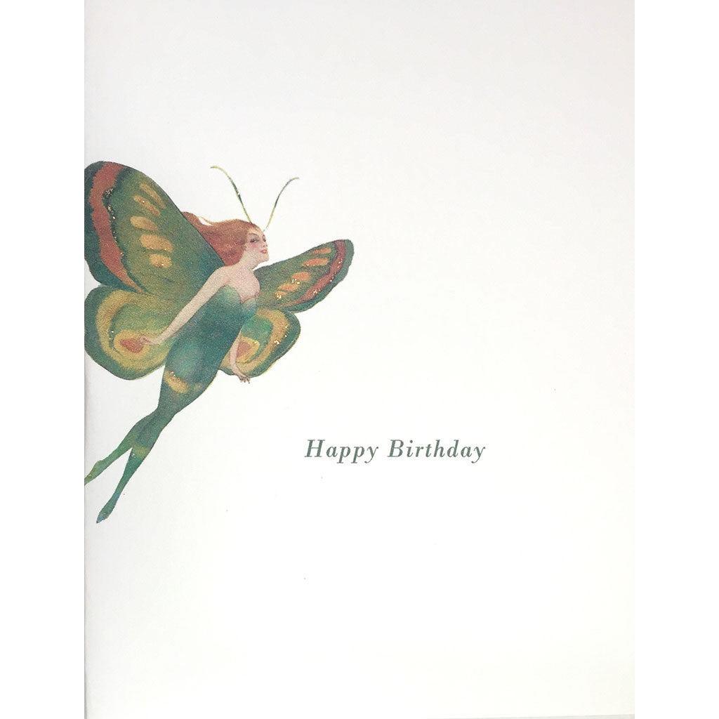 Greeting Card Butterfly Woman Birthday - Lumia Designs
