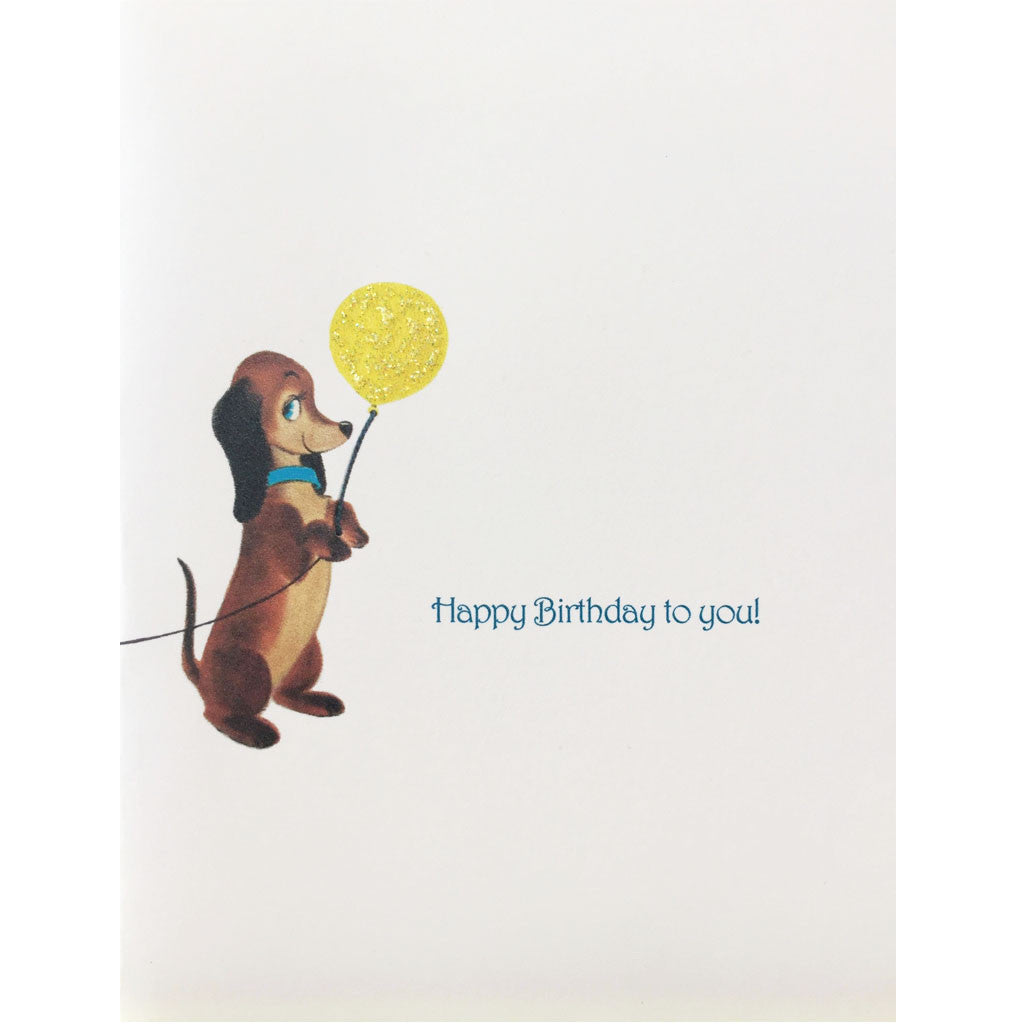Dog Balloon Birthday Card