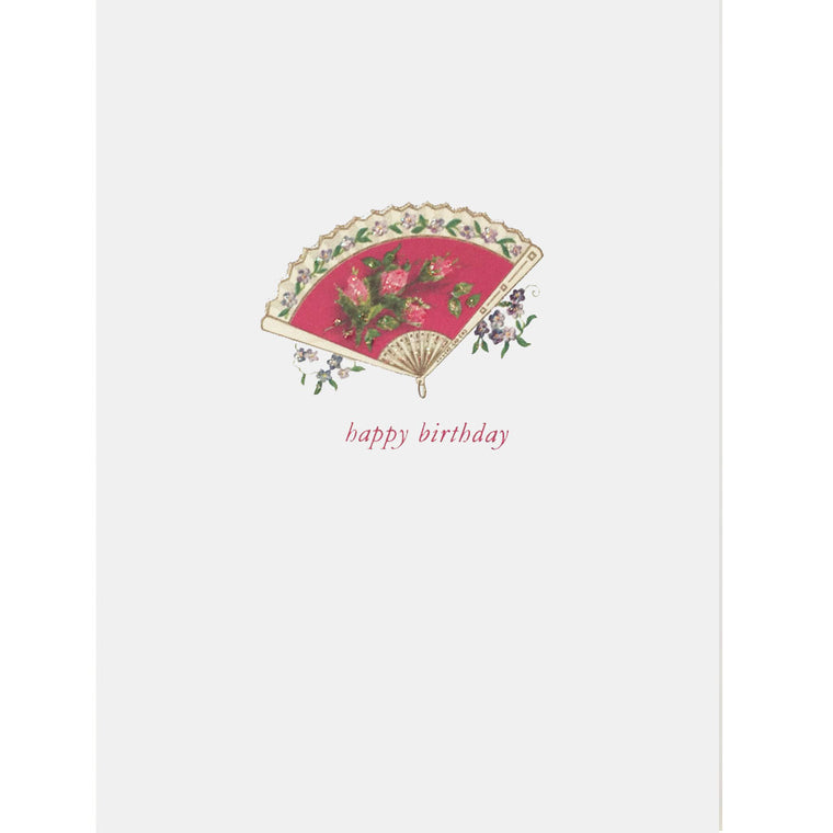 Red Fan Birthday Card - Lumia Designs