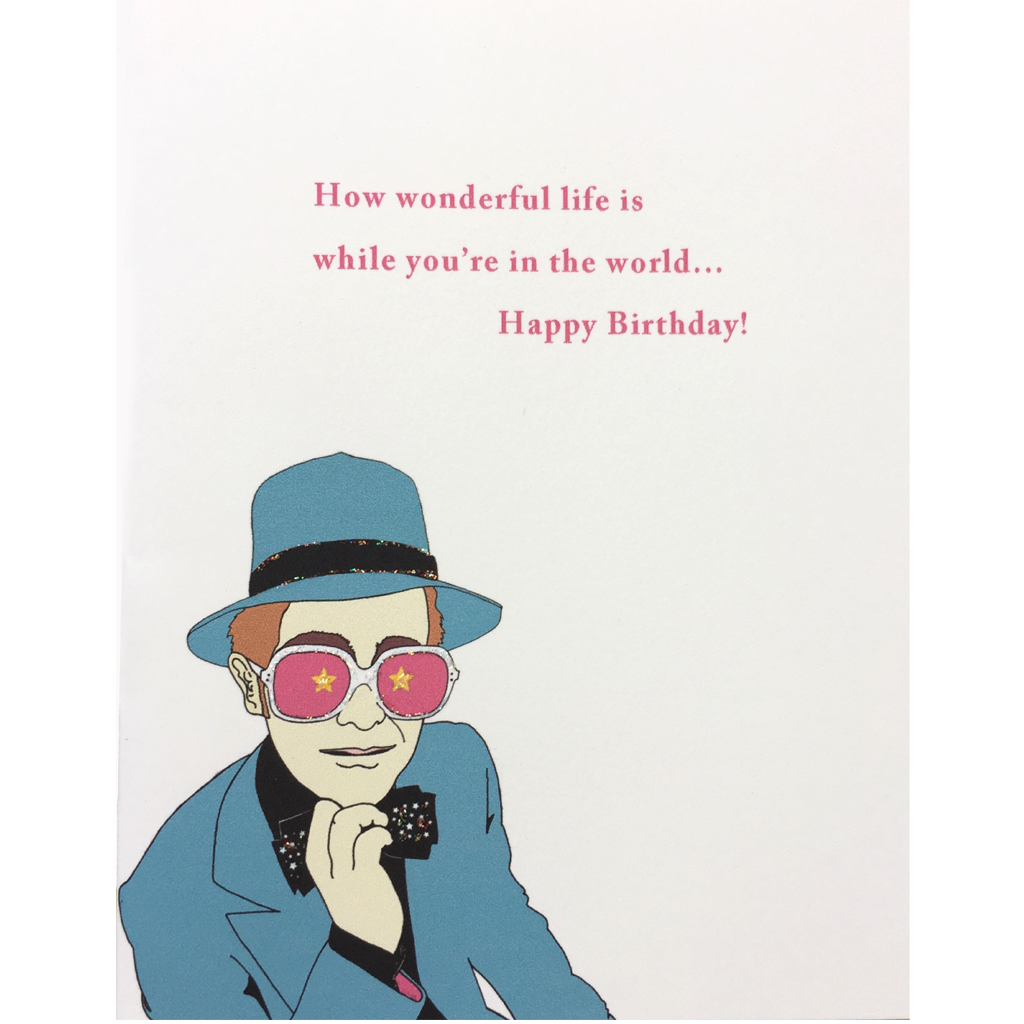 Elton John Birthday Card