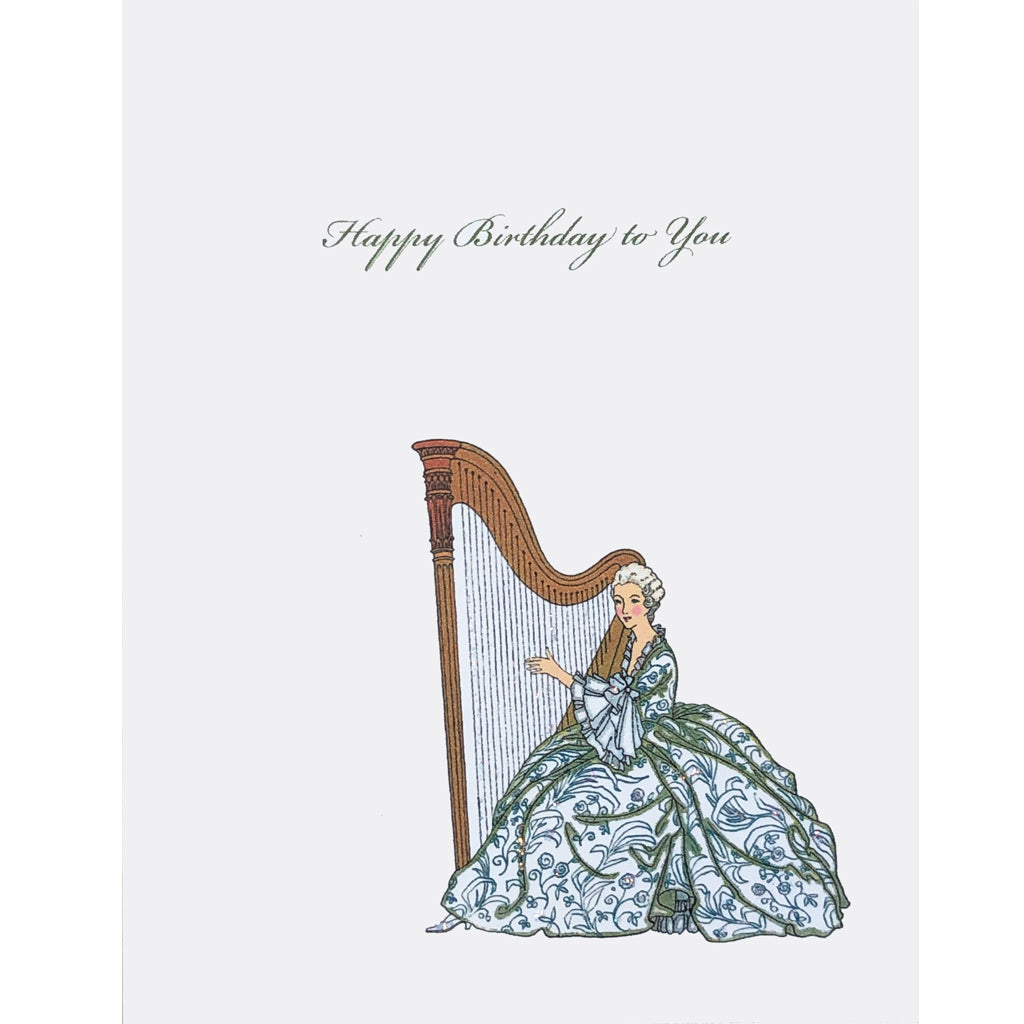 Harp Birthday Card