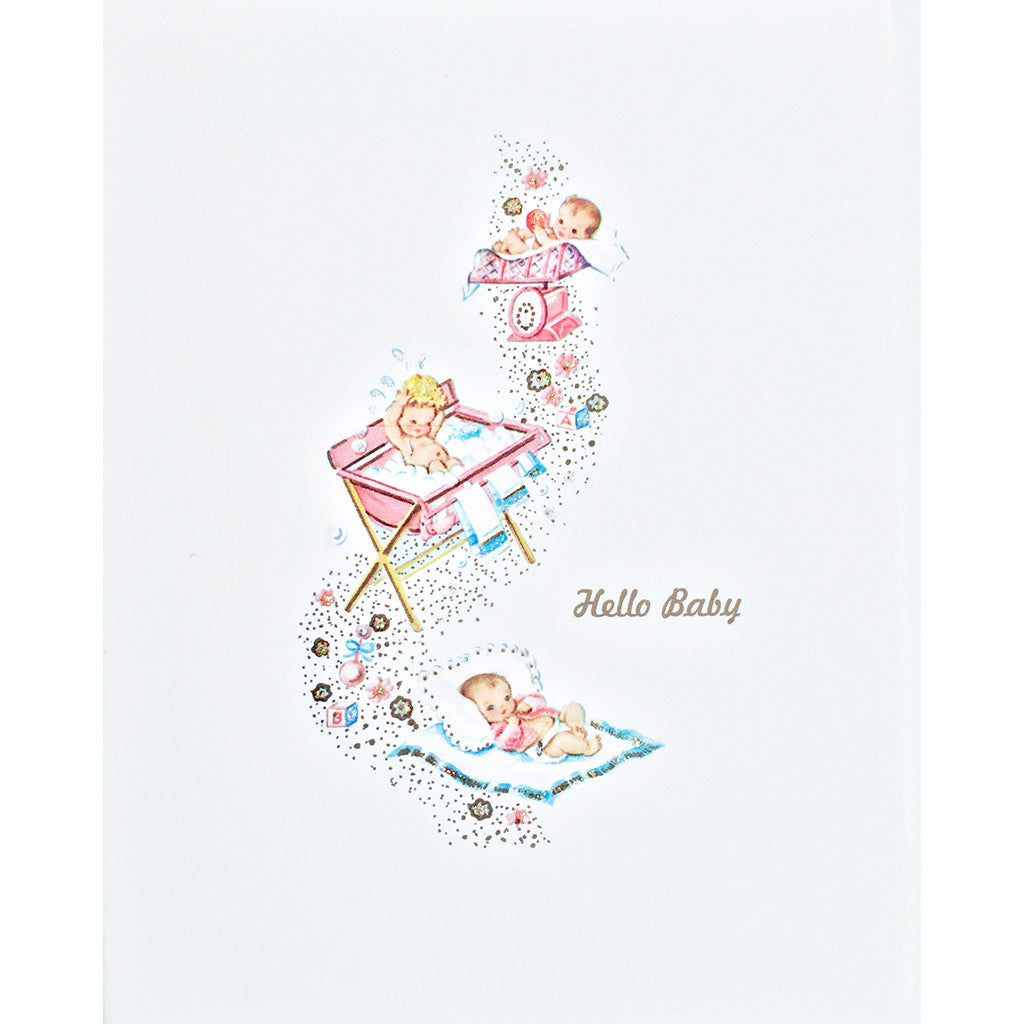 Greeting Card Hello Baby - Lumia Designs
