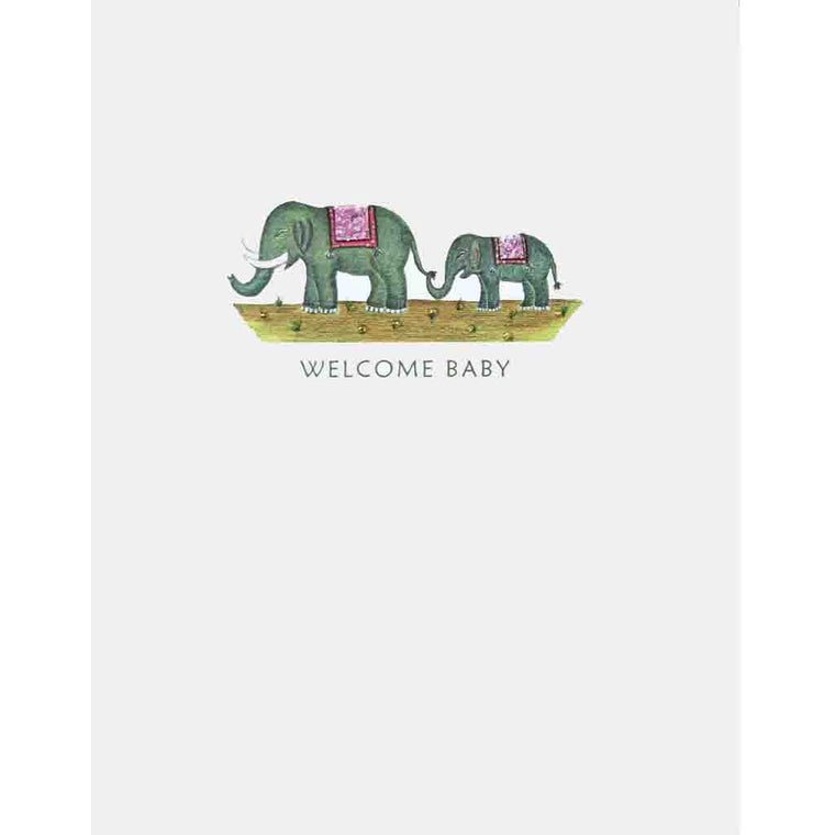 Elephants New Baby Card