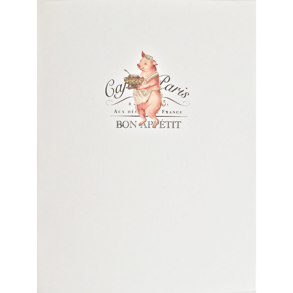 Greeting Card Paris Pig - Lumia Designs