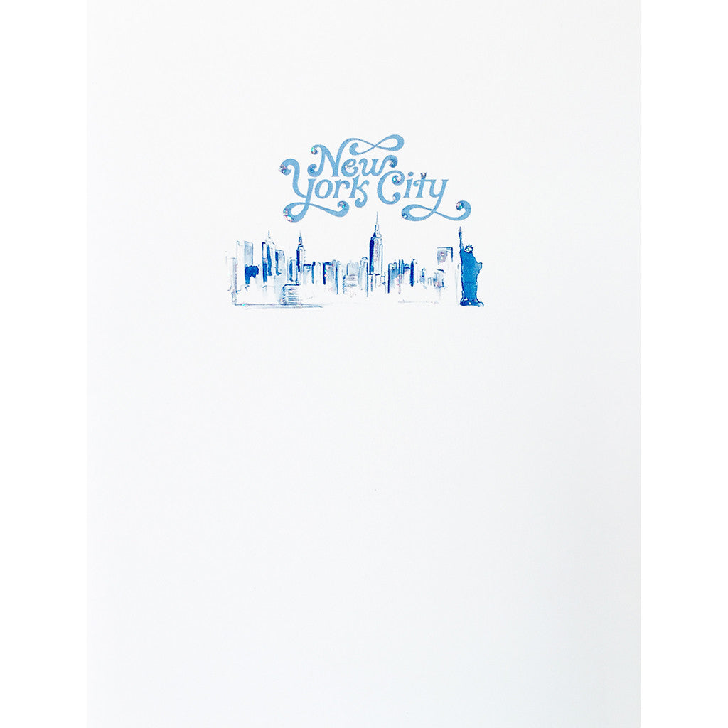 Greeting Card New York Skyline - Lumia Designs