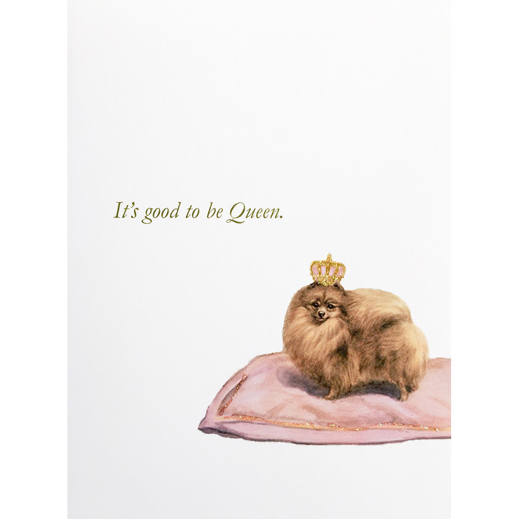 Greeting Card Dog Queen - Lumia Designs