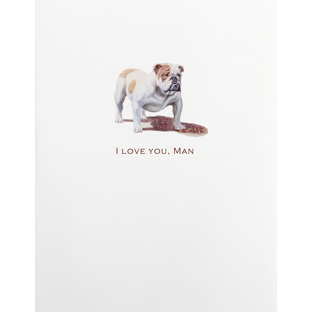 Greeting Card Love You, Man - Lumia Designs