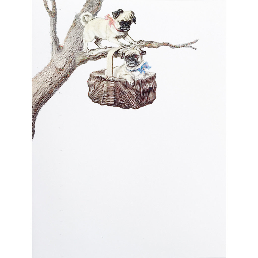 Greeting Card Tree Pugs - Lumia Designs