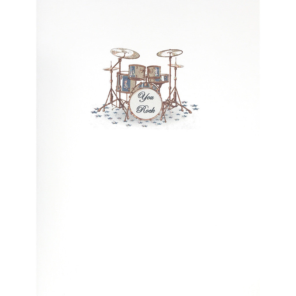 Greeting Card You Rock with Drum-set - Lumia Designs