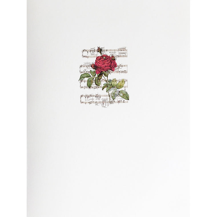 Greeting Card Music Rose - Lumia Designs