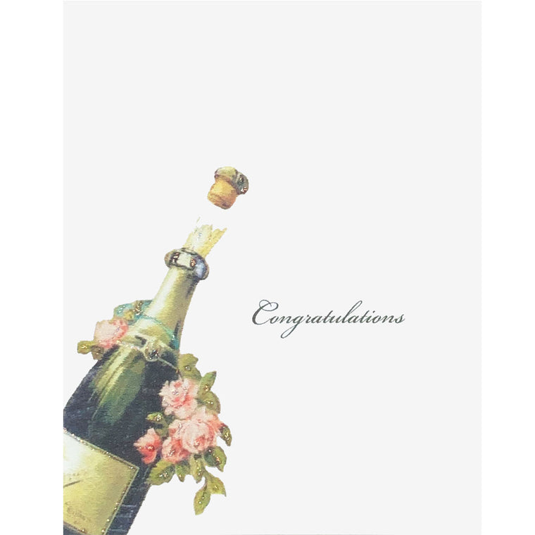 Champagne & Roses Congratulations Card
