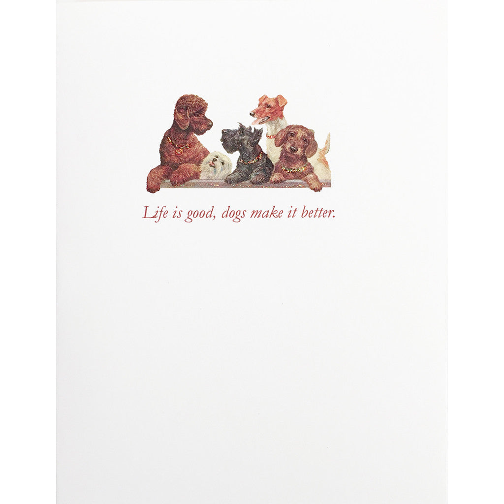 Greeting Card Dogs Make it Better - Lumia Designs