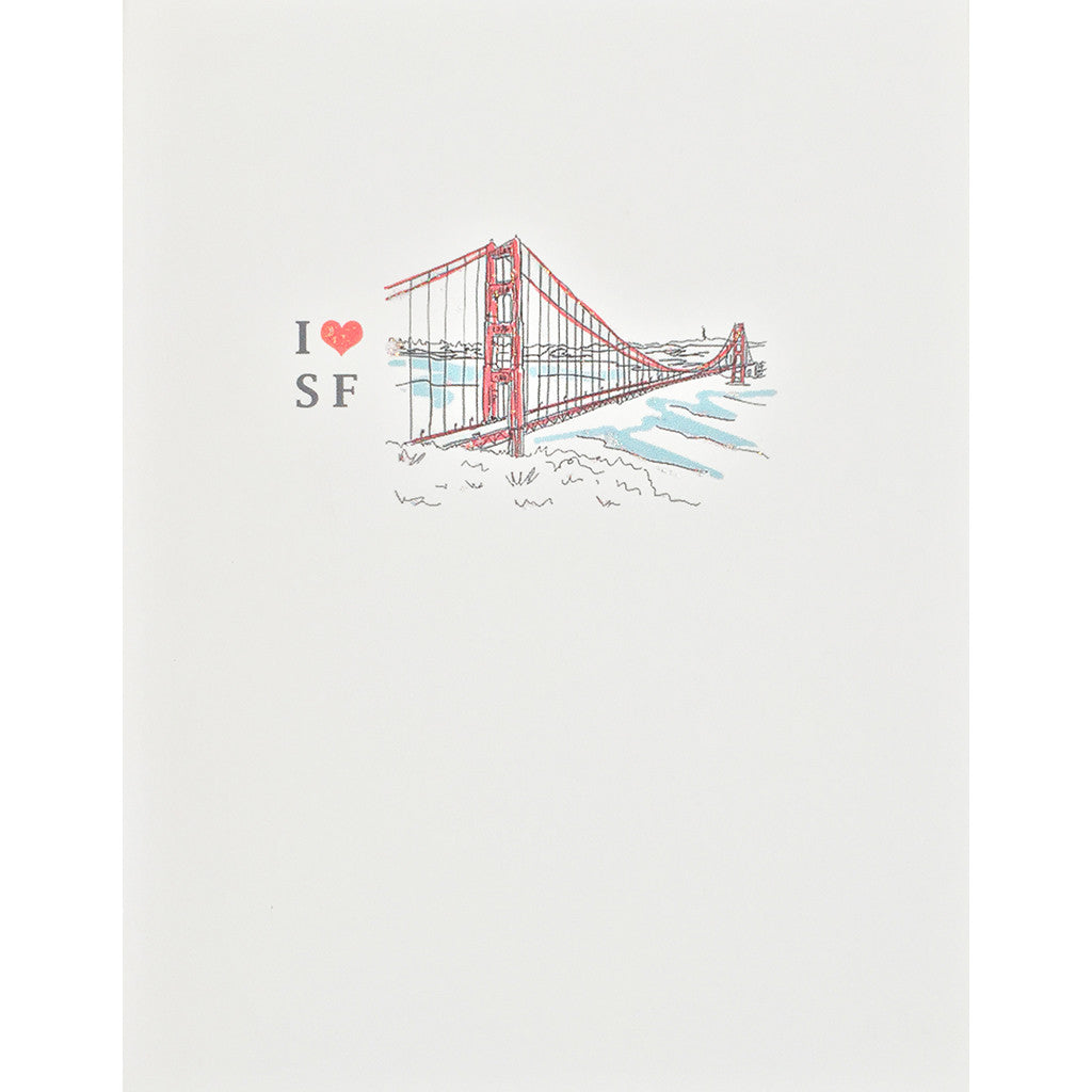 Greeting Card Golden Gate - Lumia Designs