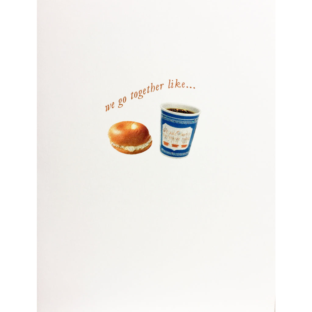 Coffee & Bagel Love Card
