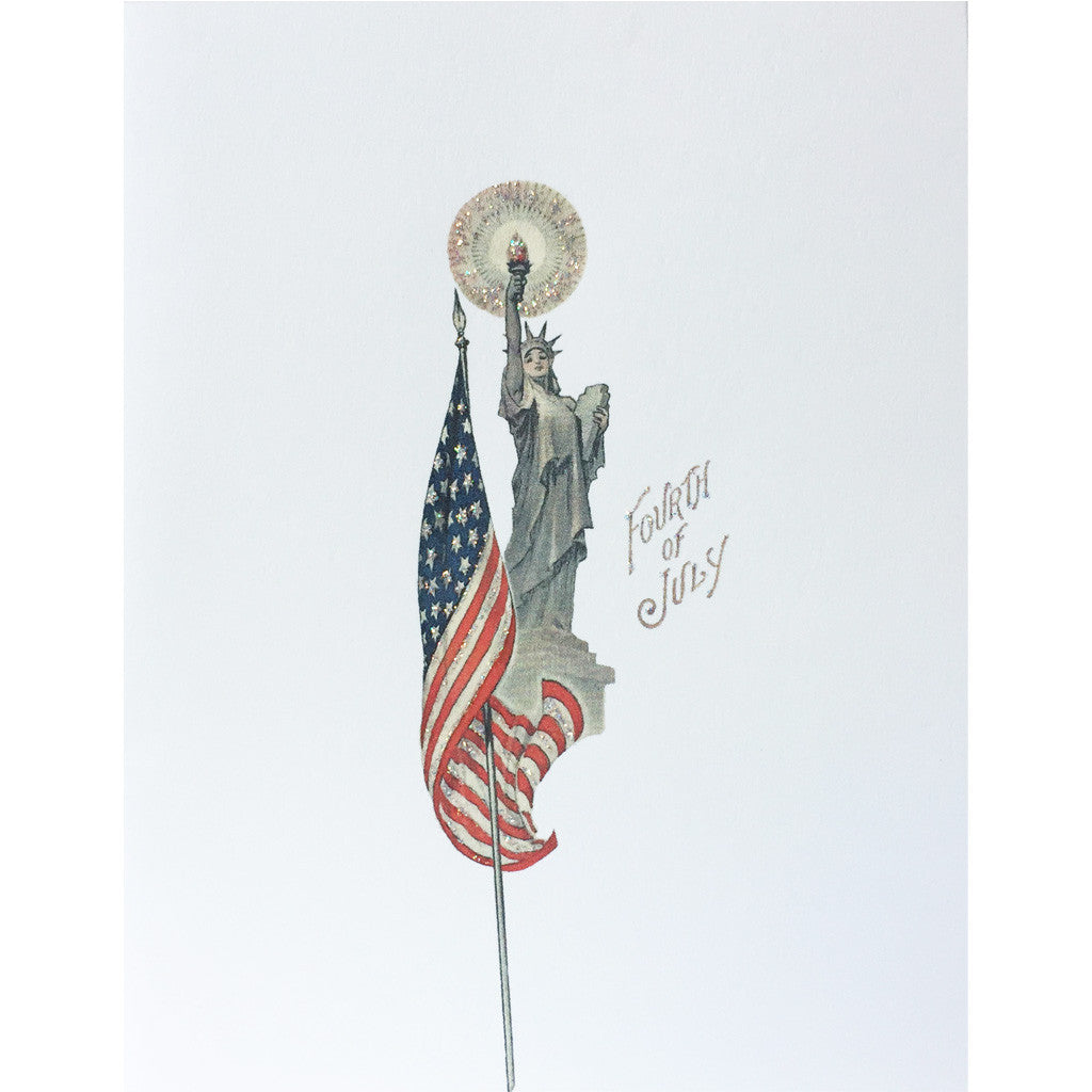 Greeting Card Lady Liberty July 4th - Lumia Designs