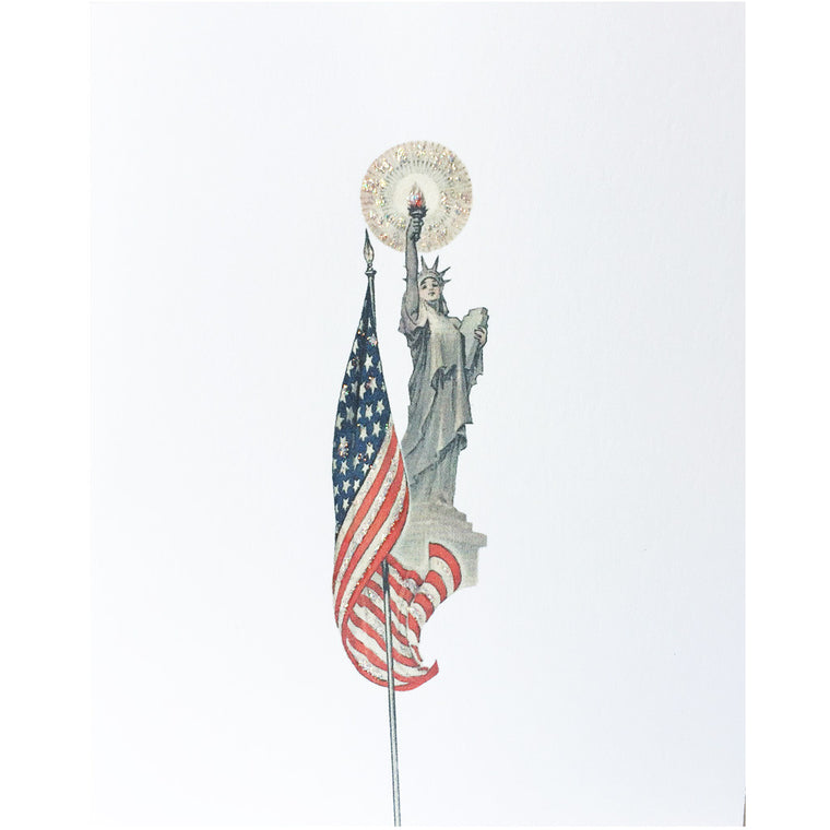 Greeting Card Lady Liberty - Lumia Designs