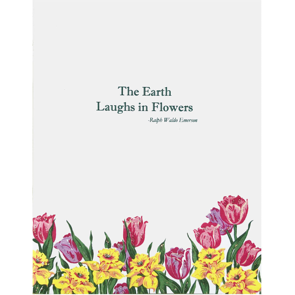 The Earth Laughs in Flowers card. Lumia Designs