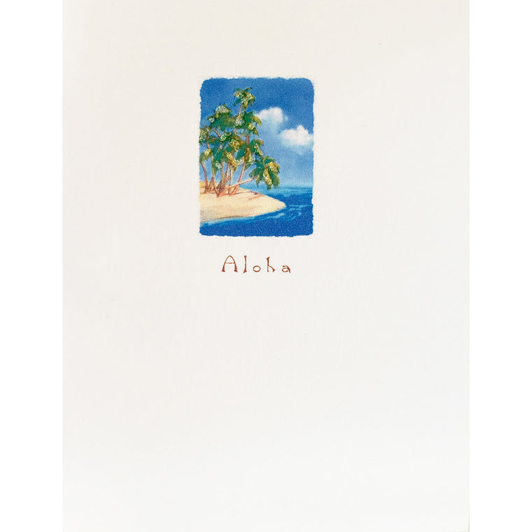 Greeting Card Aloha Tropical Paradise - Lumia Designs