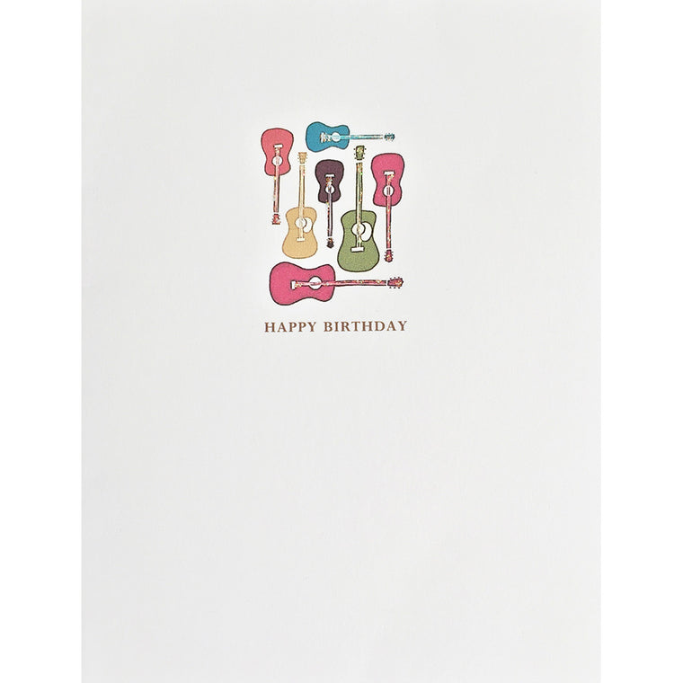 Greeting Card Guitars Birthday - Lumia Designs