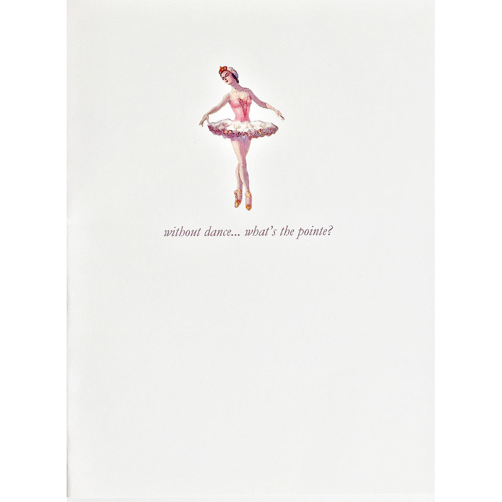 Greeting Card Ballerina Lumia Designs