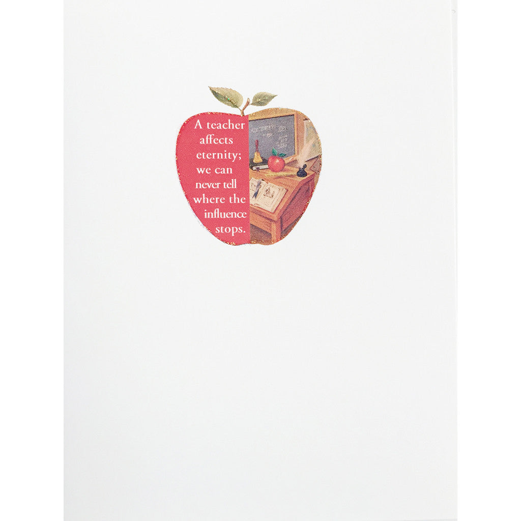 Greeting Card Teachers Apple - Lumia Designs