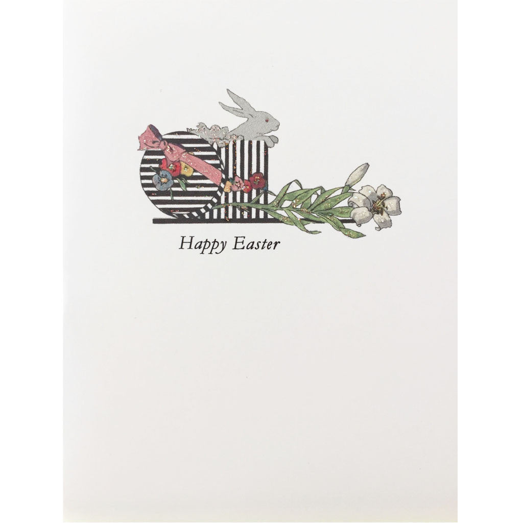 Bunny in Box Easter card
