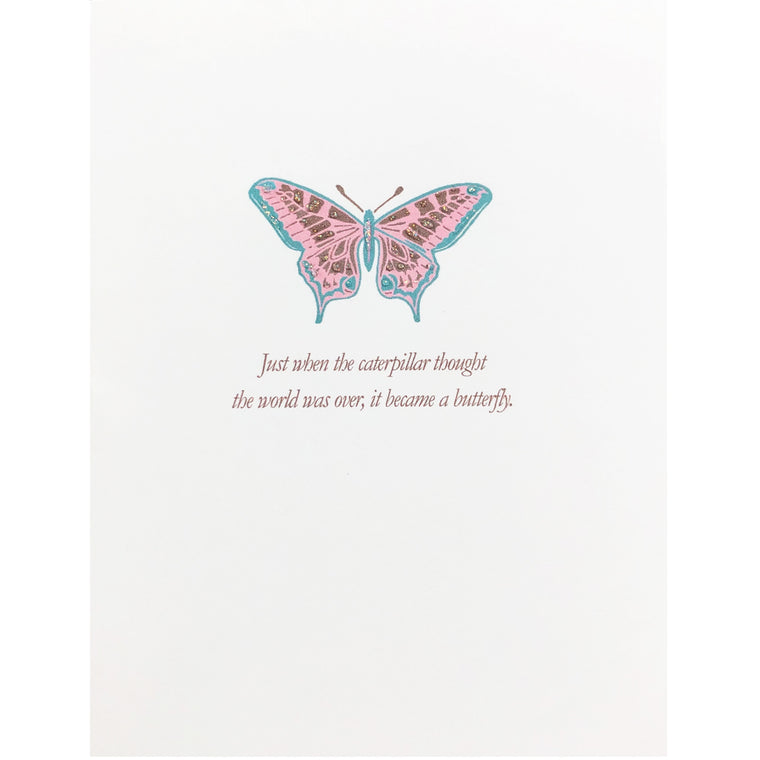 Butterfly Re-Birth Encouragement Card
