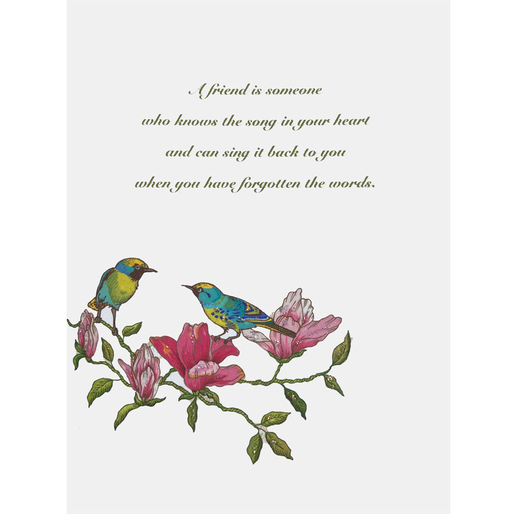 Bird Song Friendship Card