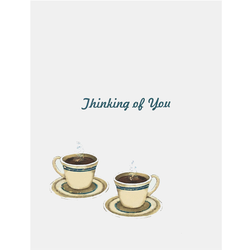 Coffee Cups Thinking of You Card