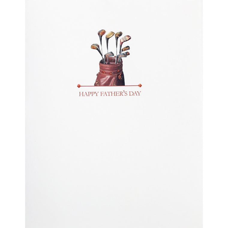Greeting Card Golf Bag Father's Day - Lumia Designs