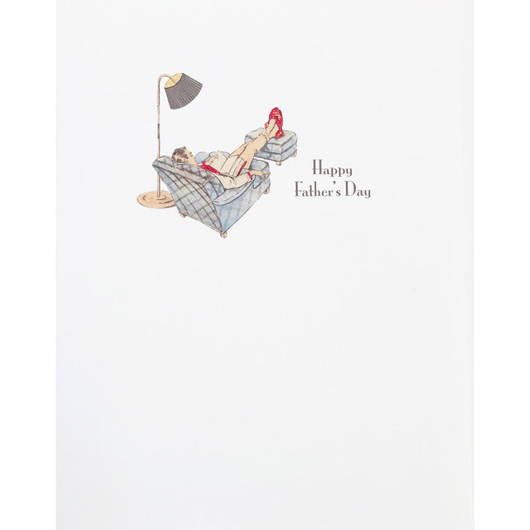 Greeting Card Easy Chair Father's Day - Lumia Designs