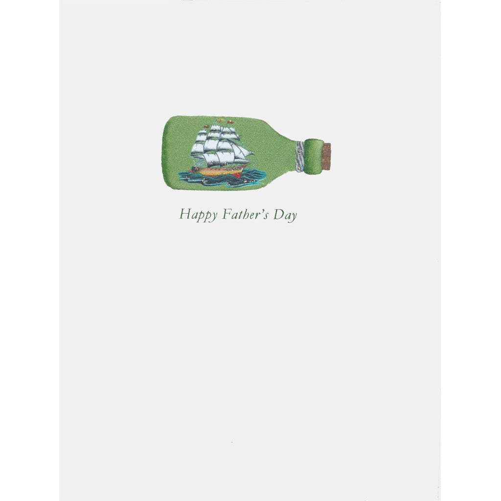 Ship in Bottle Father's Day Card