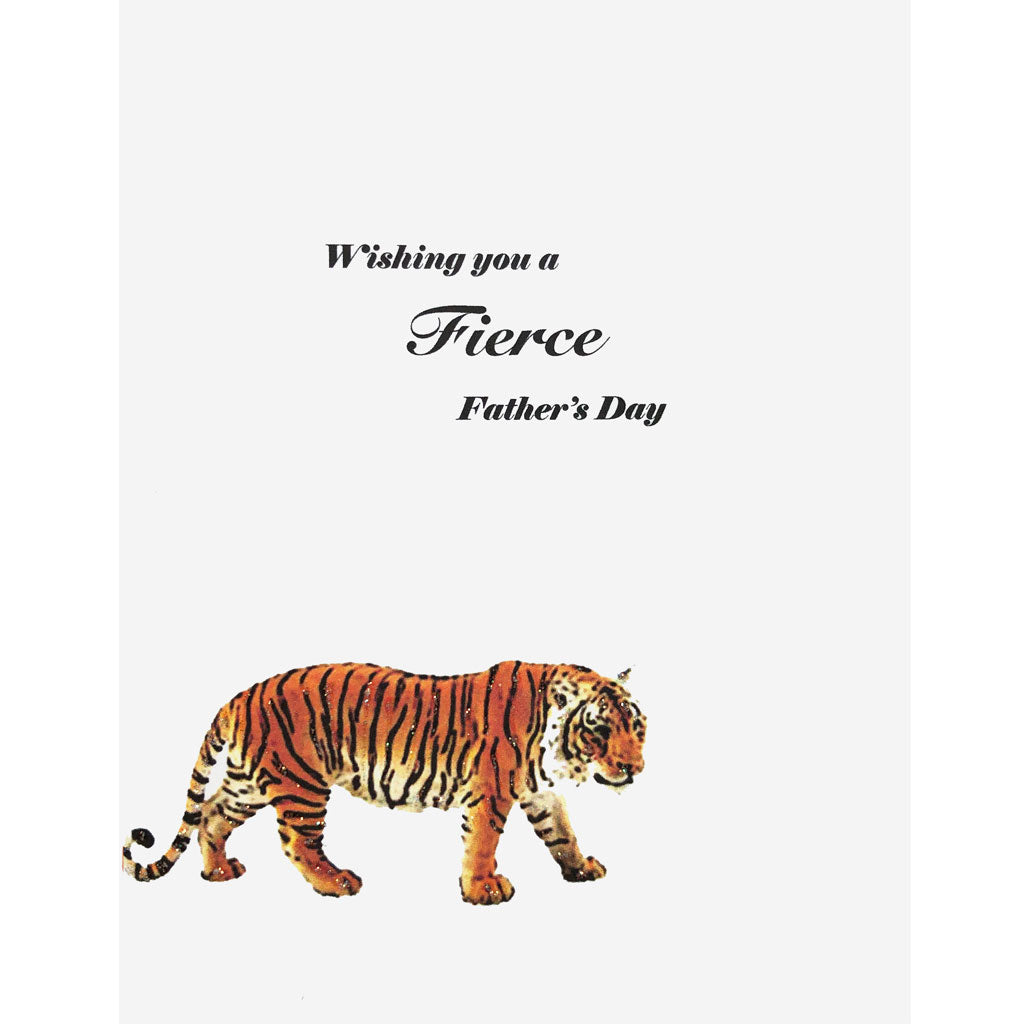 Tiger Father's Day Card. Lumia Designs