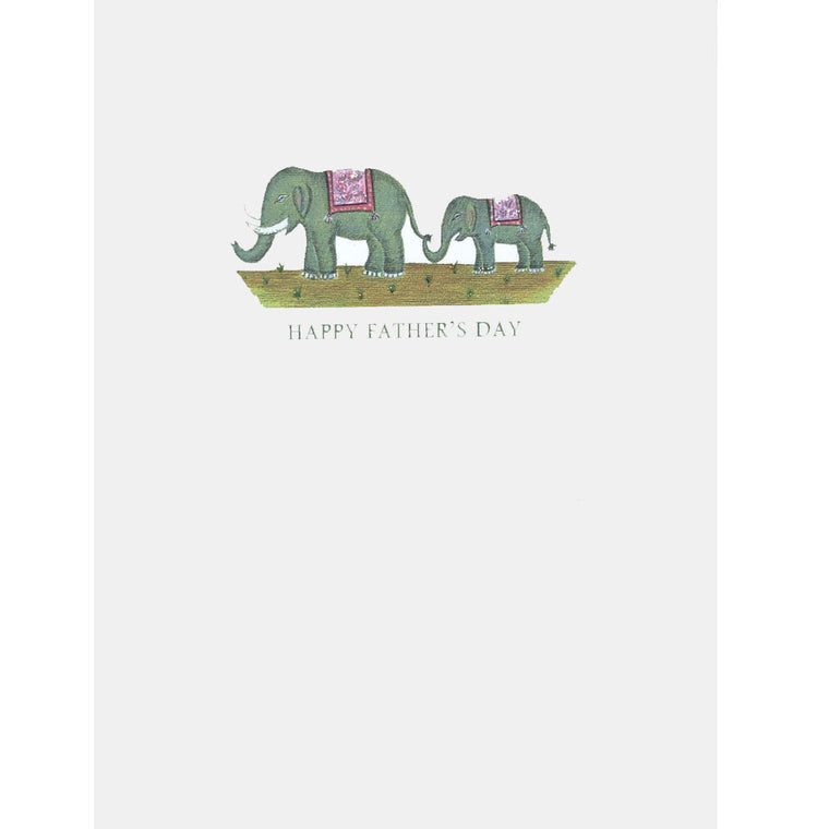 Elephants Father's Day Card