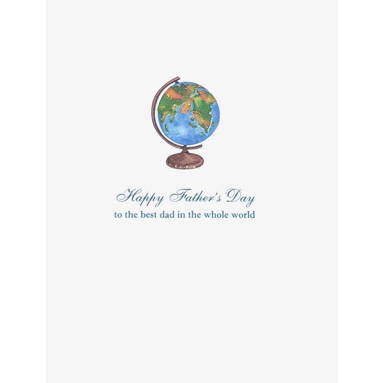 Globe Father's Day Card