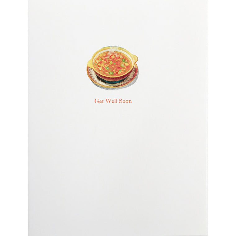 Greeting Card Get Well Soup Bowl - Lumia Designs