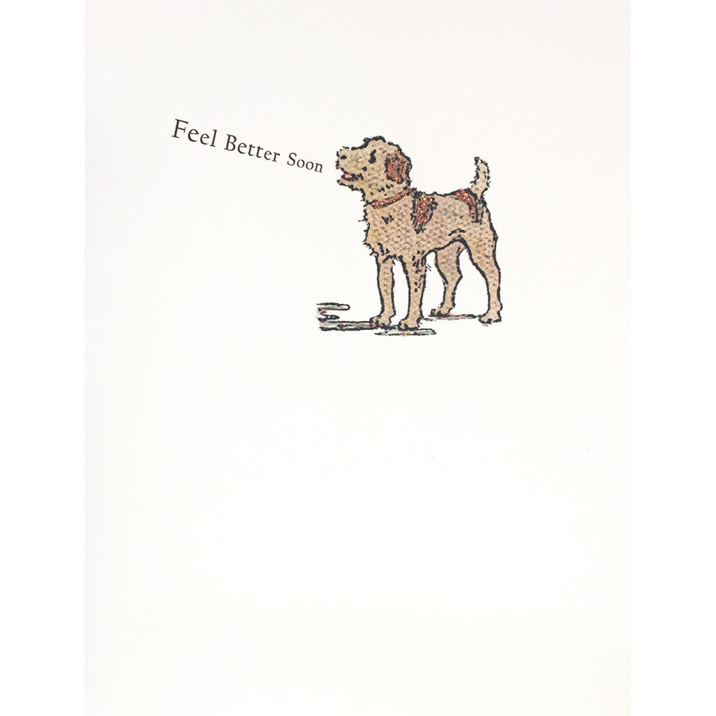 Greeting Card Doggie Get Well - Lumia Designs