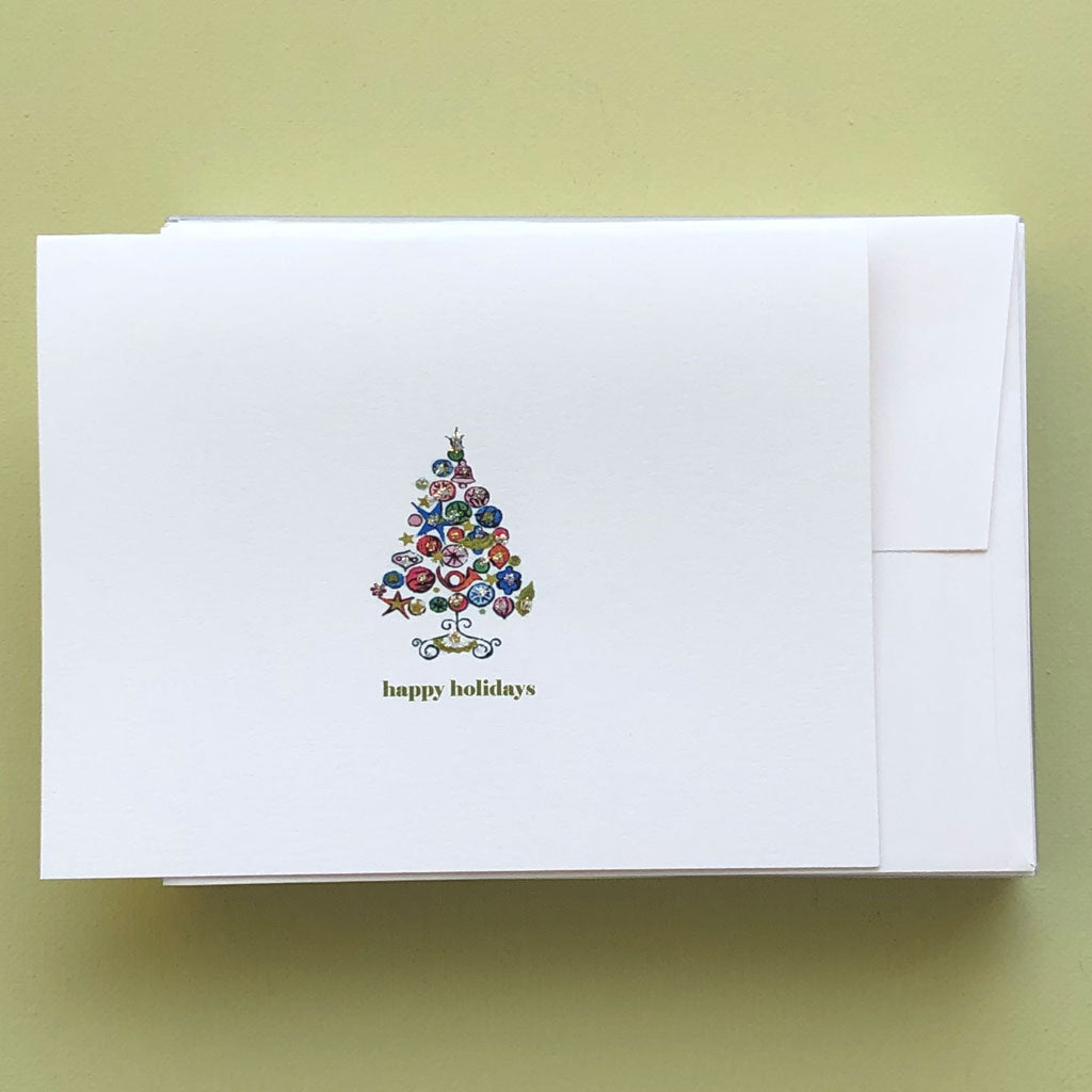 Retro Xmas Tree Boxed Holiday Card