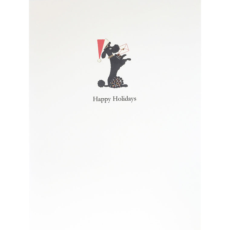 Greeting Card Holiday Poodle - Lumia Designs