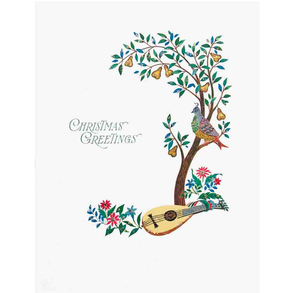 Partridge in a Pear Tree greeting card Lumia Designs