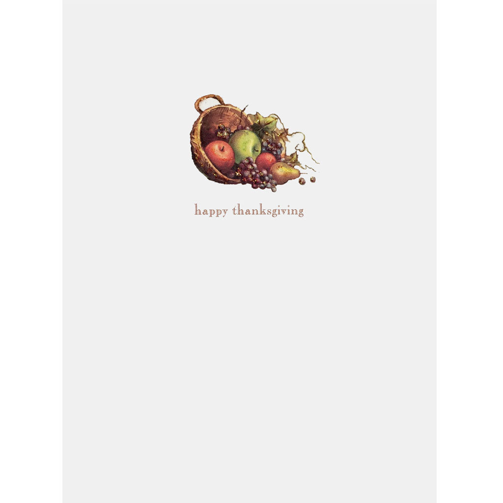 Greeting Card Cornucopia Thanksgiving - Lumia Designs