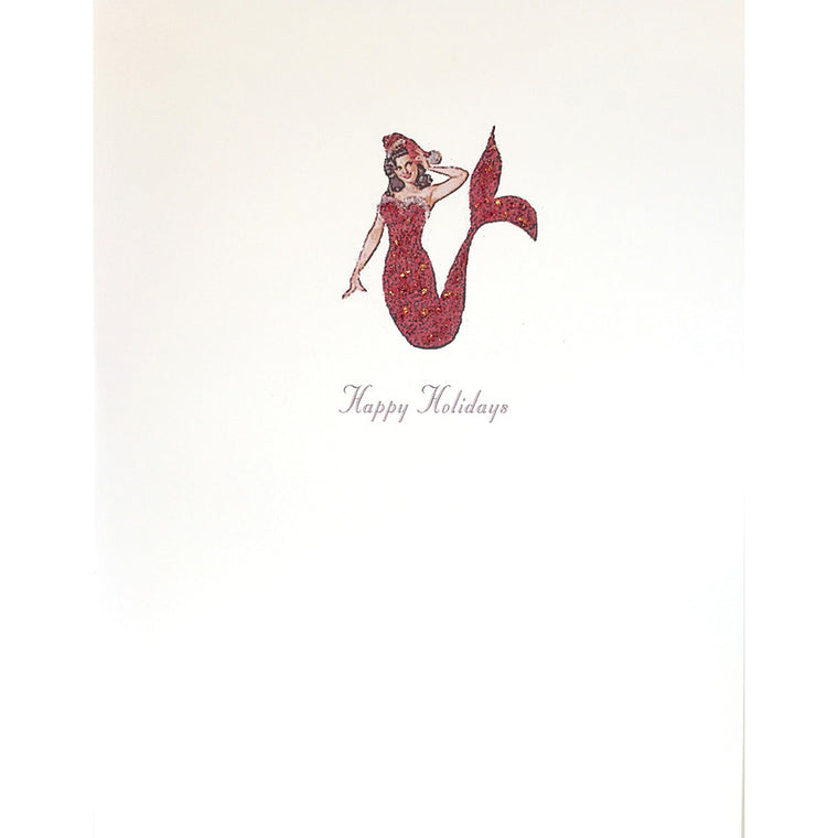 Greeting Card Santa Mermaid - Lumia Designs