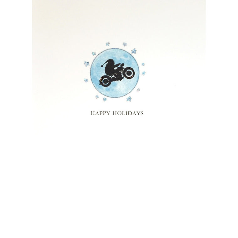 Greeting Card Motorcycle Santa - Lumia Designs