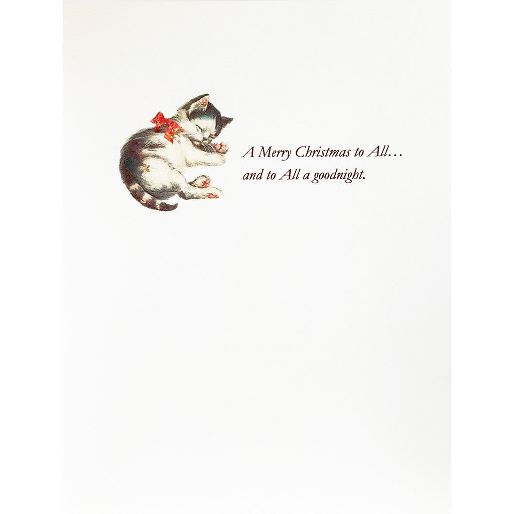 Greeting Card Kitten Xmas - Lumia Designs