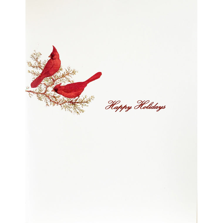 Greeting Card Holiday Cardinals - Lumia Designs