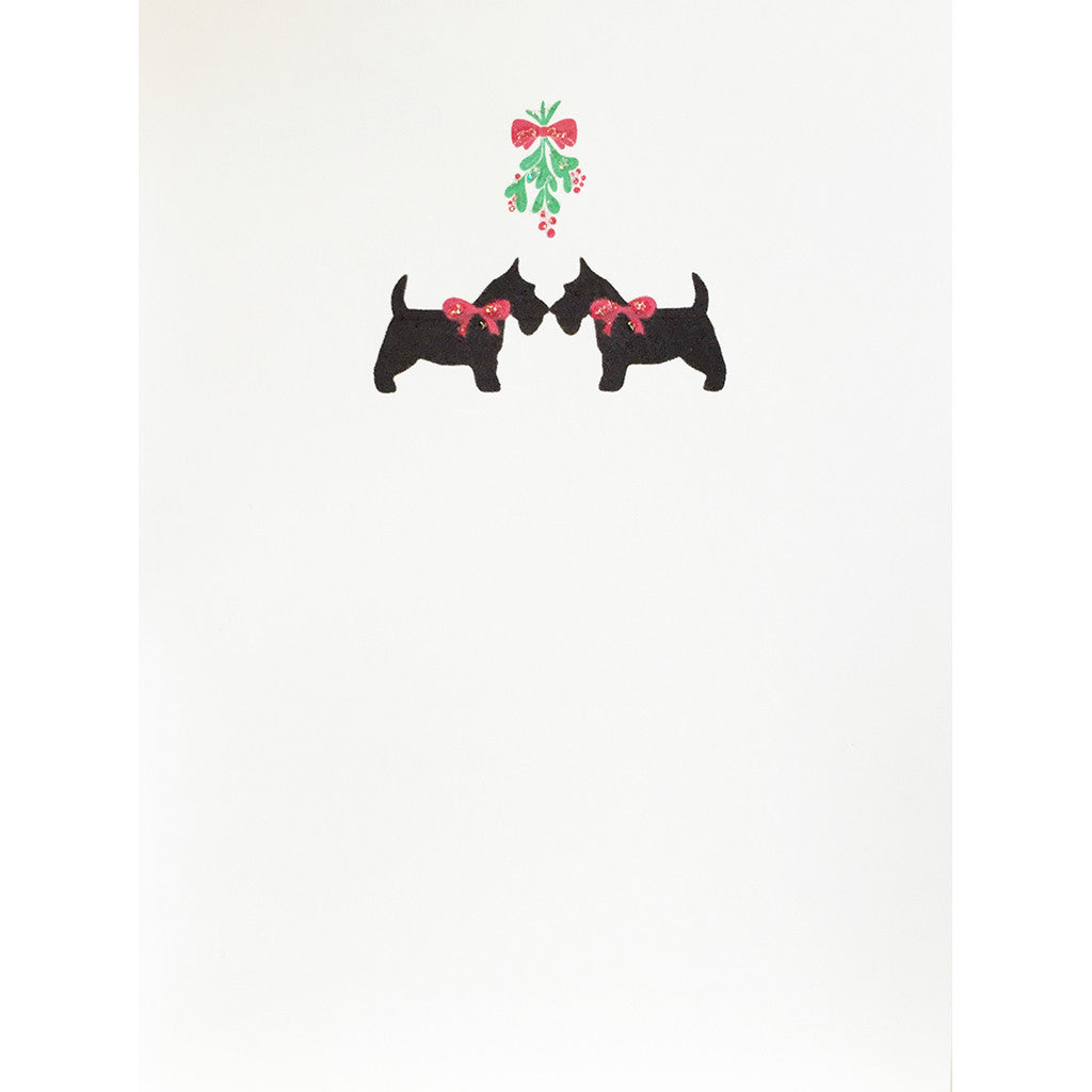 Greeting Card Scottie Mistletoe - Lumia Designs