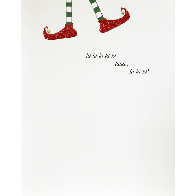 Greeting Card Elf Feet - Lumia Designs