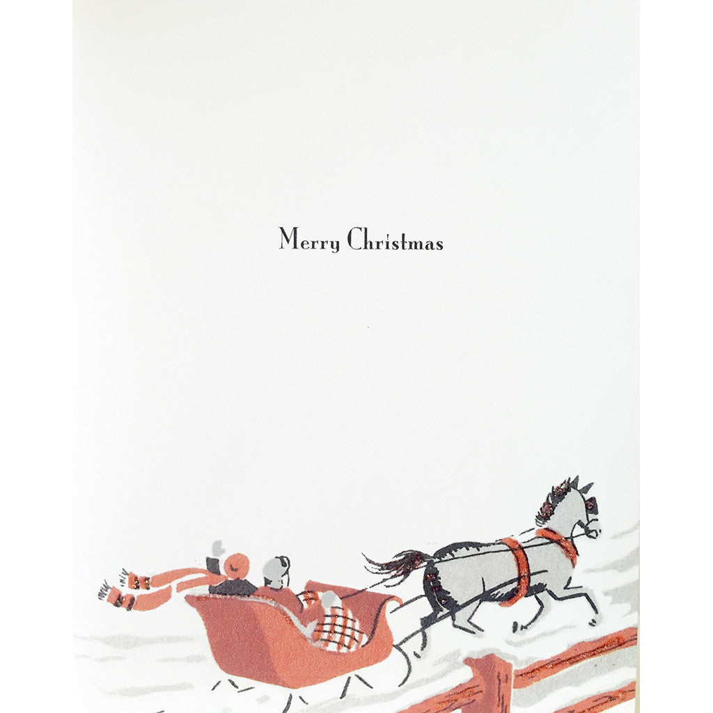 Greeting Card Sleigh Ride - Lumia Designs