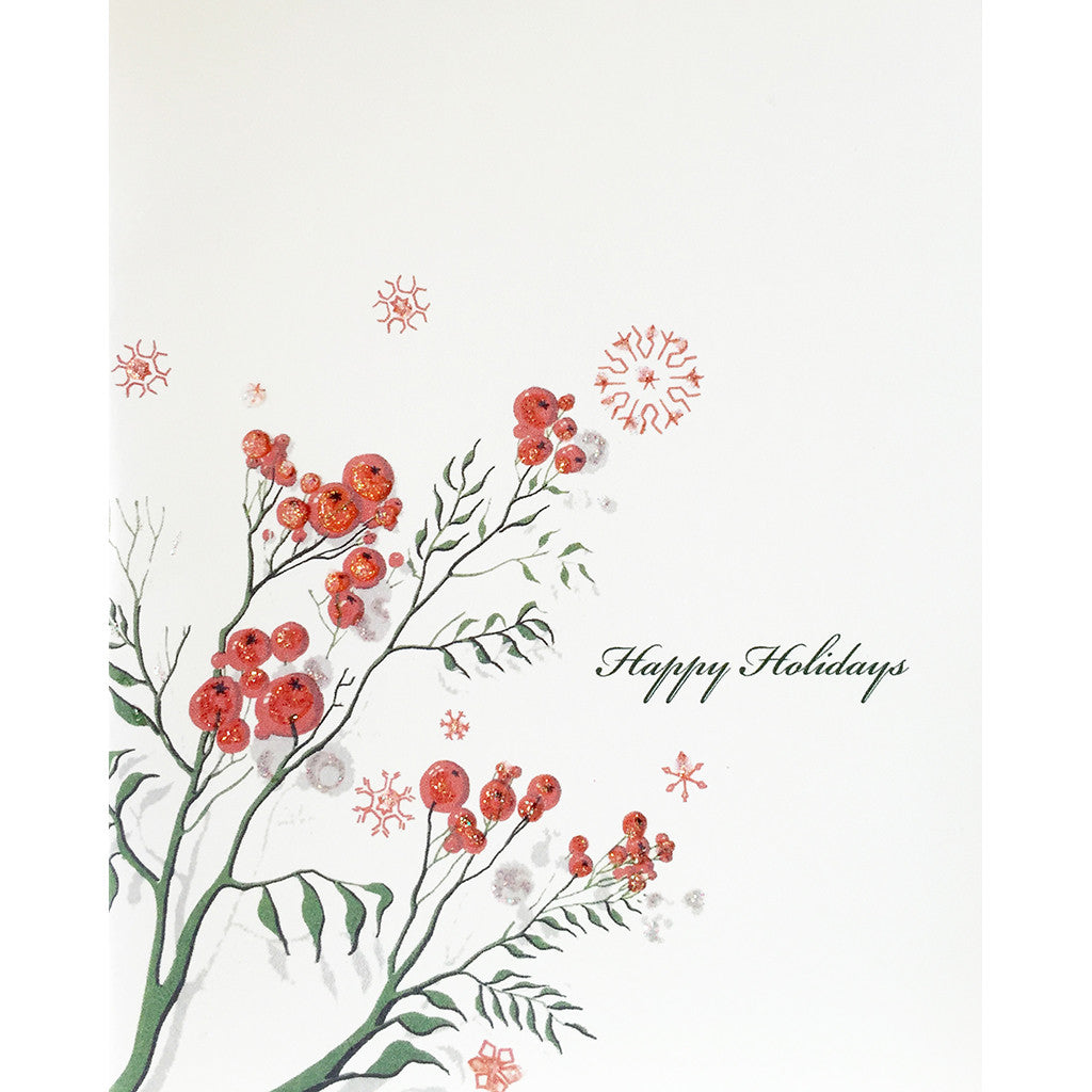 Greeting Card Holly Berrys - Lumia Designs